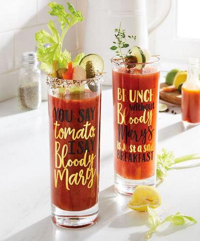 Bloody Mary High Ball Glass from Mud Pie