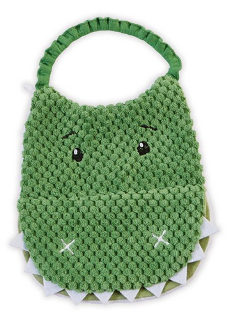 Dinosaur Open Mouth Bib from Mudpie Baby