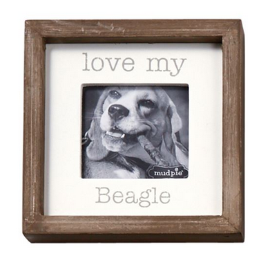 Love My Dog Small Square Plaque