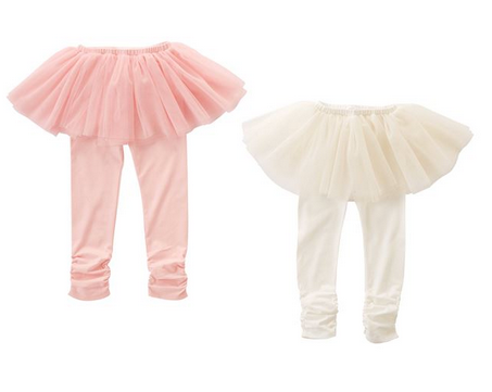 Pink & Ivory Tutu Leggings