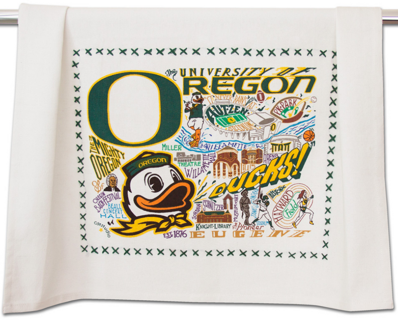 University of Oregon Dish Towel