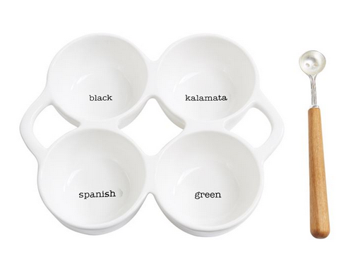 Olive Quadrant Serving Set
