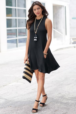 Alissa Swing Dress Black