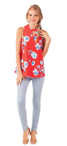 Beverly Swing Top Spring Blossom from Mudpie Fashion