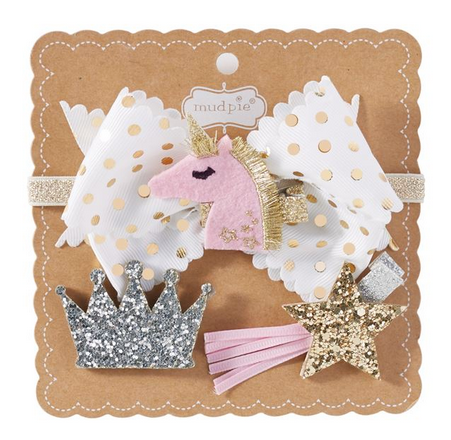 Unicorn 3-In-1 Bow Set