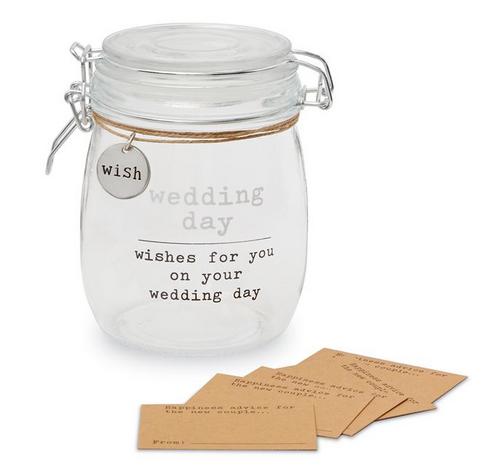 Wedding Wish Jar Set by Mud Pie