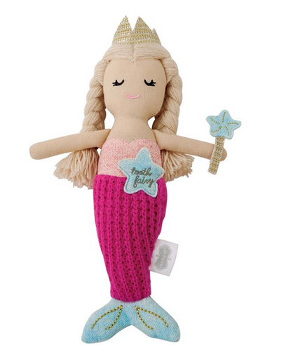 Mermaid Tooth Fairy Doll by Mud Pie