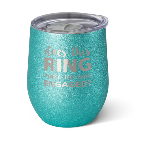 Swig Celebrations 12oz Wine Ring/Engaged