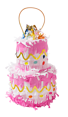 30oz Birthday Cake Shaped Pinata by Slant