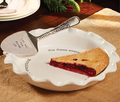 Circa Pie Plate and Server by Mud Pie