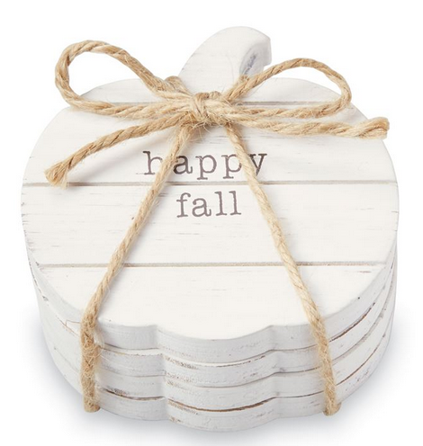 Pumpkin Sentiment Coasters by Mud Pie