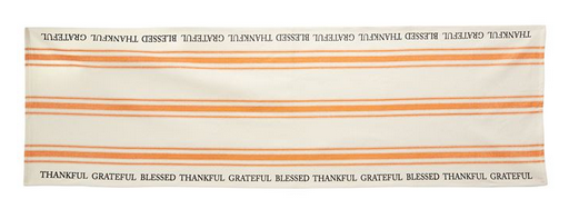 Thankful Grateful Blessed Grainsack Runner by Mud Pie
