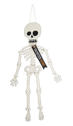 Skeleton Door Hanger by Mud Pie