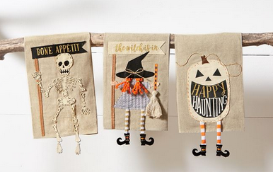 Halloween Dangle Leg Towels by Mud Pie