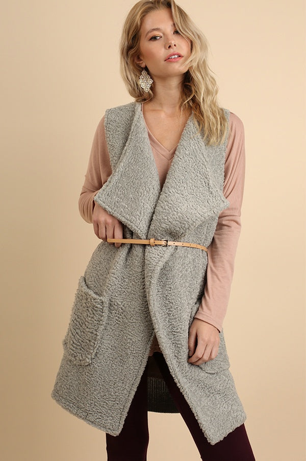 Silver Wubby Belted Sweater Vest
