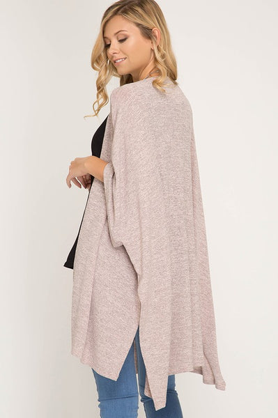Oatmeal Light Open Knit Cardigan