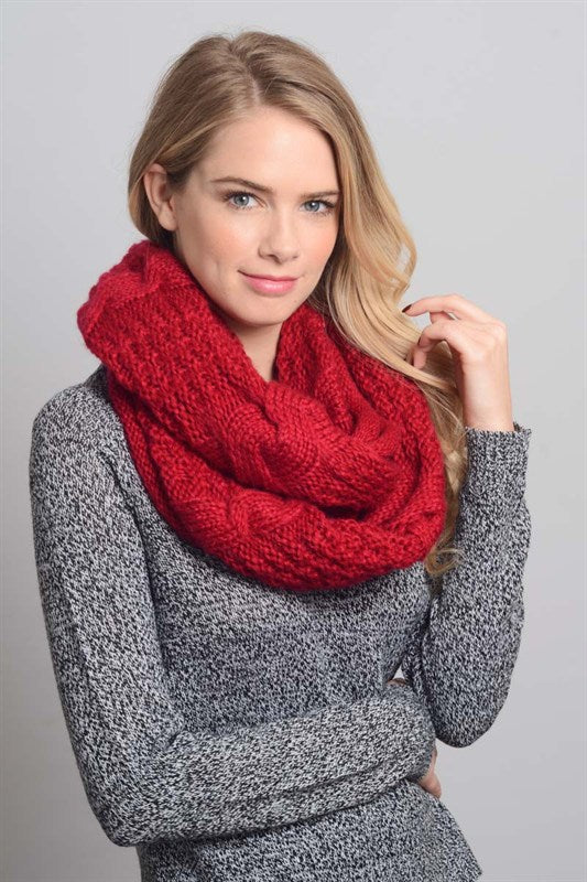 Winter Cable Knit Infinity Scarf
