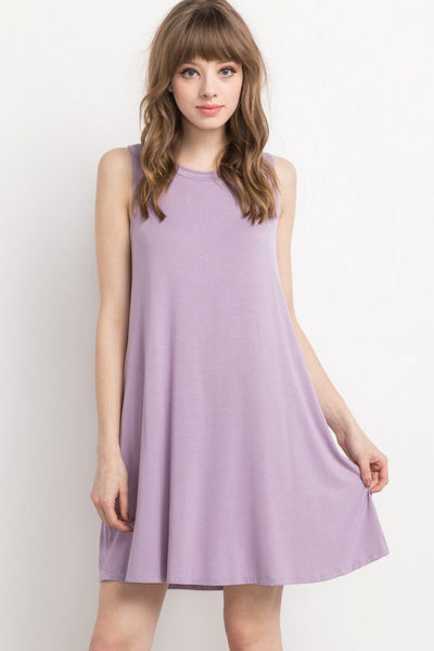 Lavender Bamboo Pocket Shift Dress (final sale)