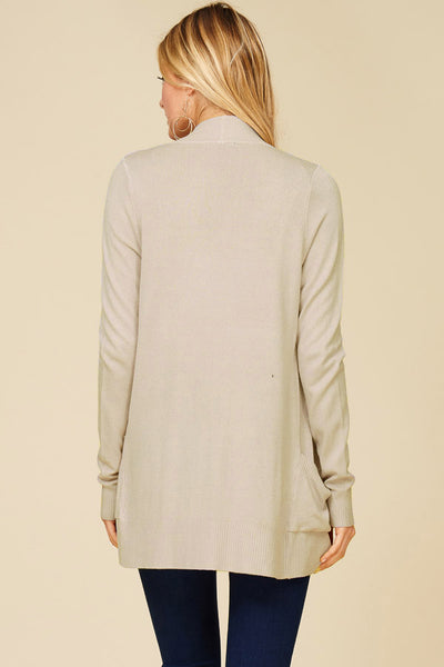 Champagne Oversized Ribbed Cardigan
