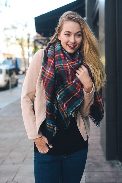 Classic Plaid Blanket Scarf (final sale)
