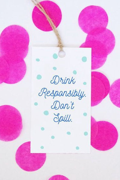 Don't Spill Gift Tags (final sale)