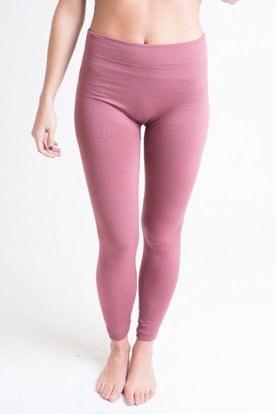 Legs For Days Mauve Fleece Lined Leggings - Single Thread Boutique