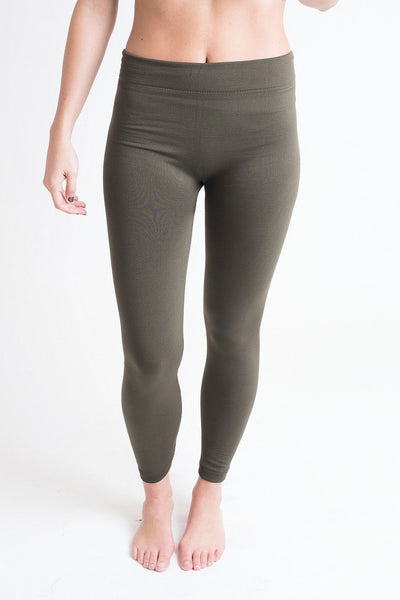 Legs For Days Olive Fleece Lined Leggings - Single Thread Boutique