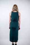 Hunter Green Ribbed Midi Dress (final sale)