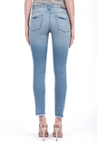 Sarah Light Wash Frayed Skinny