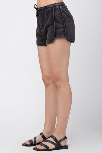 Blue Washed Out Tie Waist Shorts (final sale)
