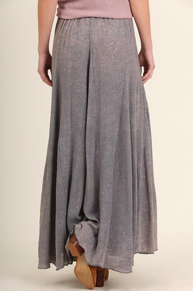 Denim Washed Out Maxi Skirt (final sale)