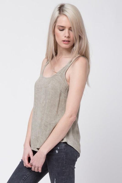 Black Washed Out Cross Back Top (final sale)