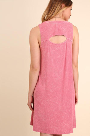 Berry Dye Washed Cut Out Dress (final sale)