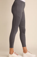 Charcoal Moto Washed Jeggings