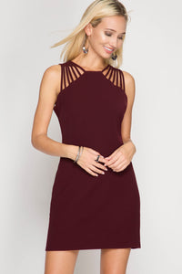 Wine Strap Shoulder Dress