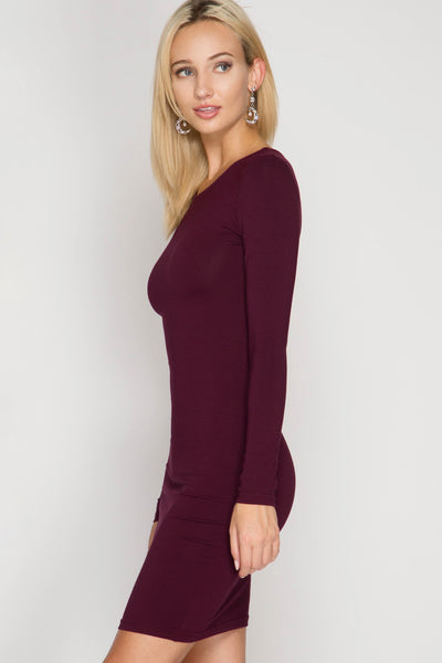 Red Long Sleeve Bodycon Dress (final sale)