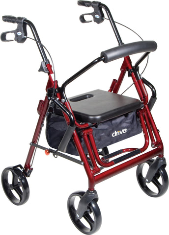 "Drive Duet Rollator/Transport Chair,  8"" Casters"