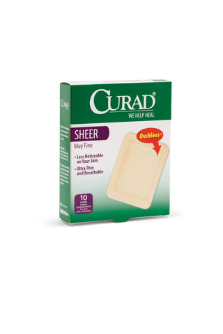 CURAD Sheer Adhesive Bandages 3 in x 4 in