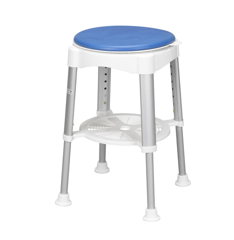 Drive Shower Stool with Padded Rotating Seat