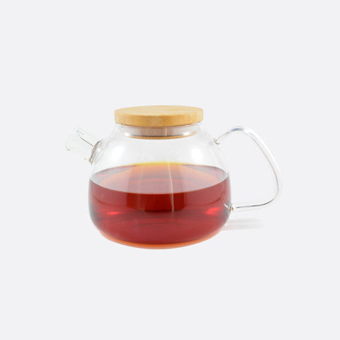 Contempo Bamboo and Glass Teapot
