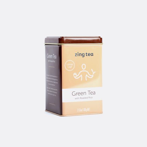 Zing Green Tea with Roasted Rice<br /> Loose Leaf - 100g NET
