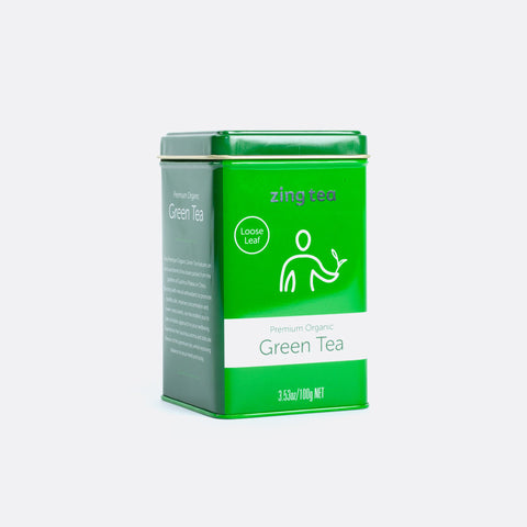 Zing Premium Organic Green Tea <br />Loose Leaf - 100g NET