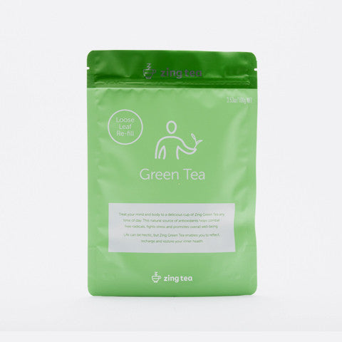 Zing Green Tea Refill</br> Loose Leaf - 100g NET