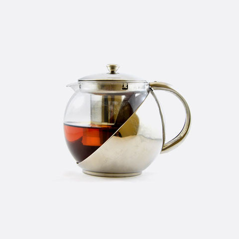 Bux Glass and Stainless Steel Teapot