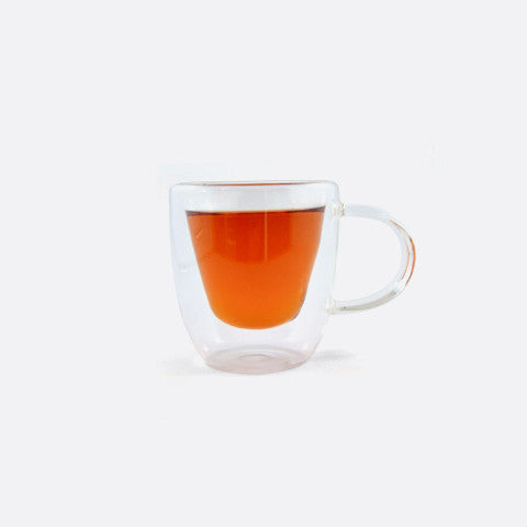 Double Walled Glass Cup with Handle