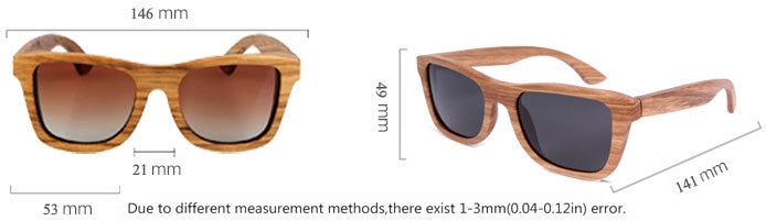 Full Frame zebra Wood Sunglasses Polarized