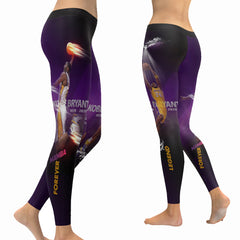 Kobe Bryant Leggings|Mamba Forever Tights|Lakers 24 Yoga Pants