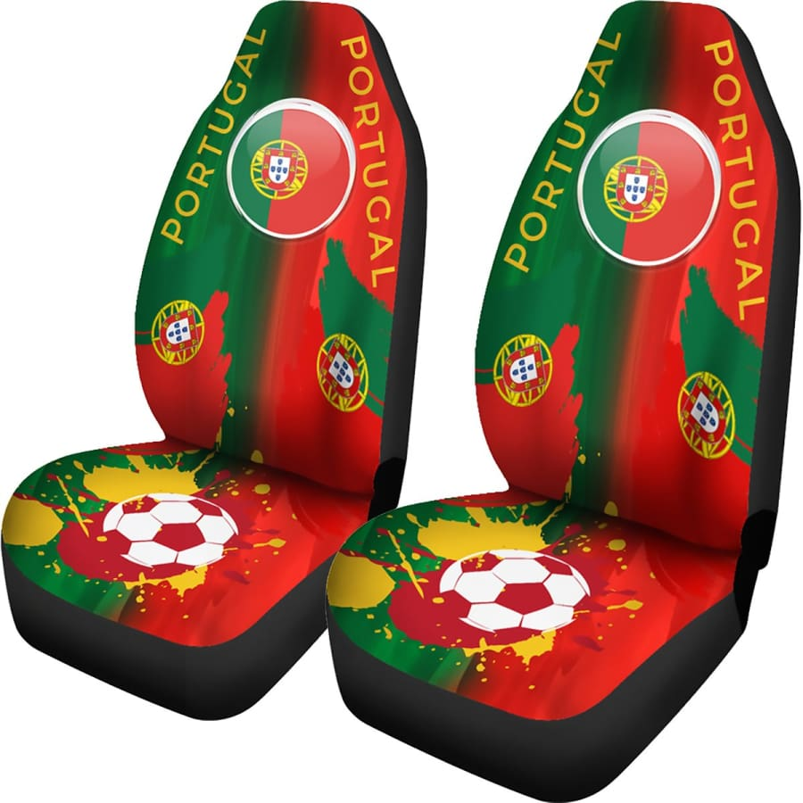 2018 FIFA World Cup Portugal Car Seat Covers 2pcs - Universal Fit