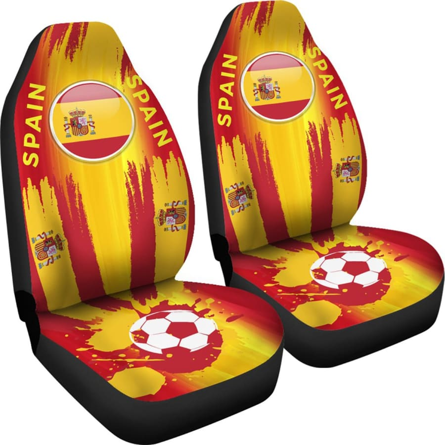 2018 FIFA World Cup Spain Car Seat Covers 2pcs