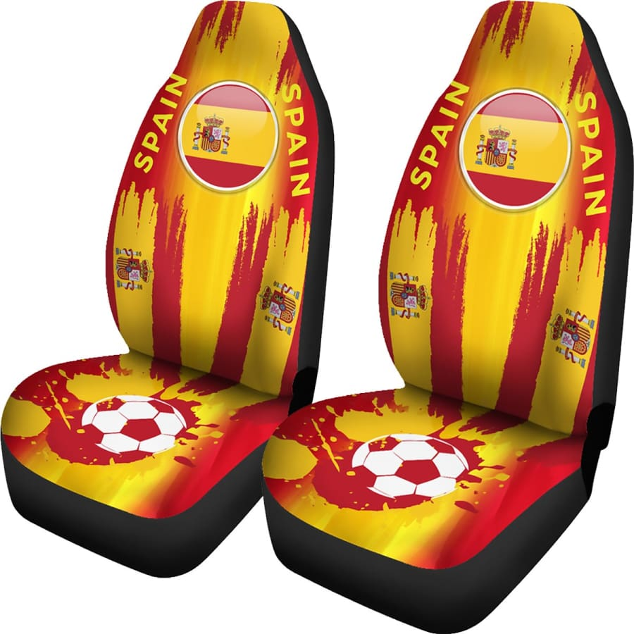 2018 FIFA World Cup Spain Car Seat Covers 2pcs - Universal Fit